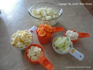Vegetables for Spirited Irish Stew