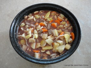 Spirited Irish Stew Ready for the Oven