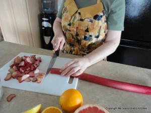 Slice Rhubarb Into Thin Slices