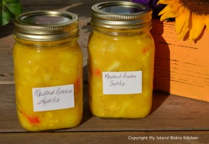 Sweet Mustard Pickles