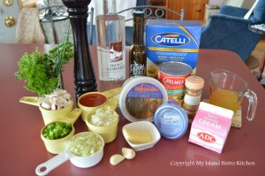Ingredients for Tomato Vodka Pasta Sauce