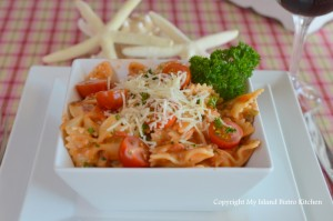 Tomato Vodka Sauce Served with Farfalle Pasta