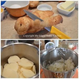 Preparing the Potatoes for Duchess Potatoes