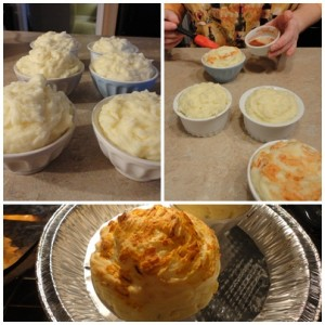 Duchess Potatoes in Individual Dishes