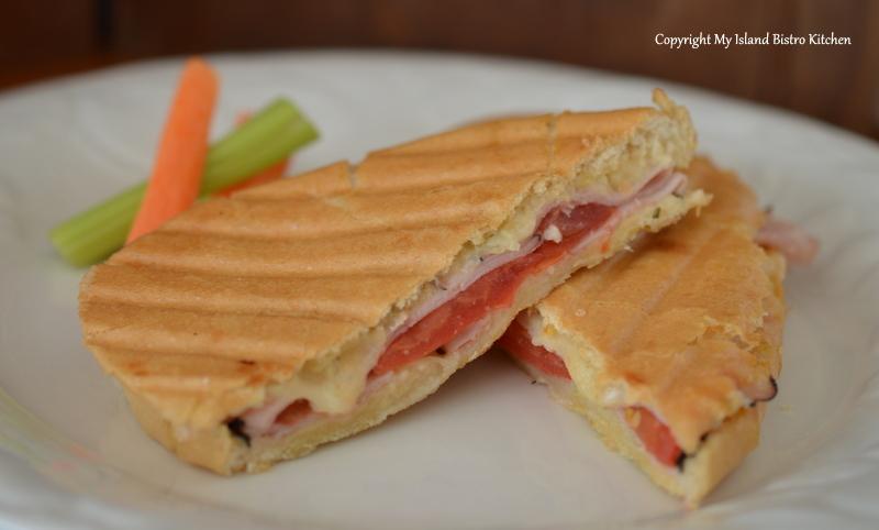 Ham, Cheese, & Tomato Panini | My Island Bistro Kitchen