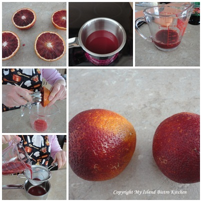 Preparing the Blood Orange Juice