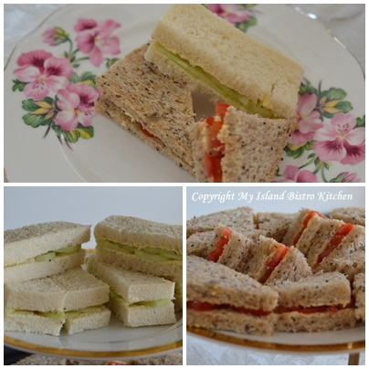 Cucumber and Tomato Sandwiches
