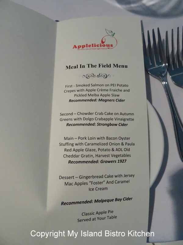 Applelicious 2013 Menu