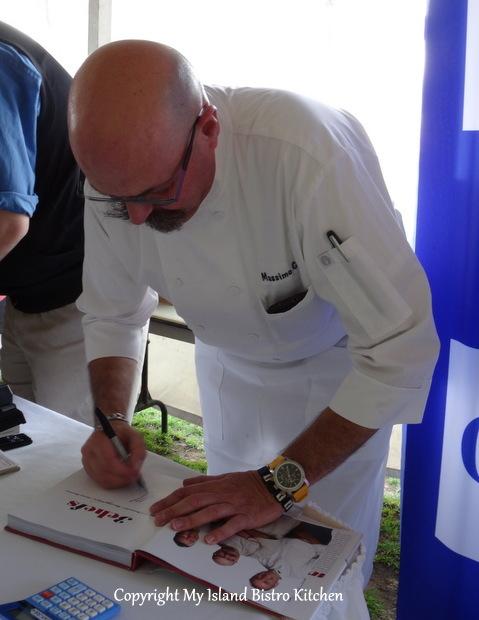 Chef Massimo Autographing Cookbook