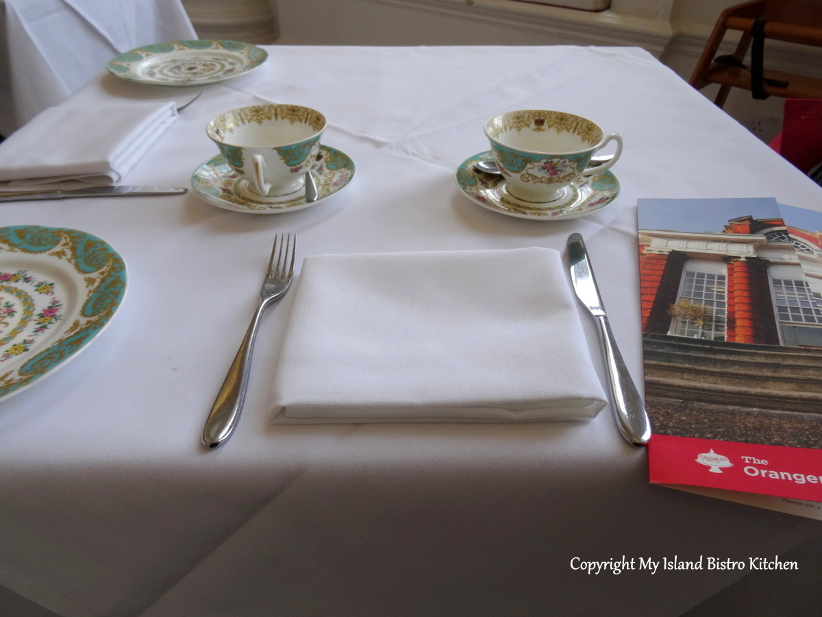 """Afternoon Tea Place Setting at """"The Orangery"""""""