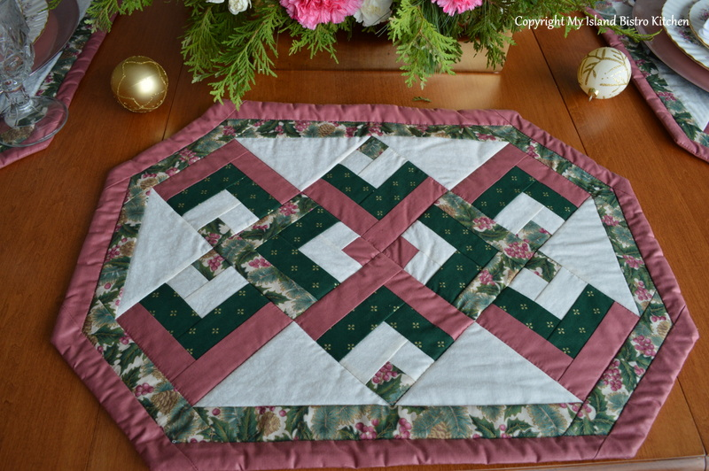 Quilting Pattern Lovers Knot : The Pink and Green Holiday Table - My Island Bistro Kitchen