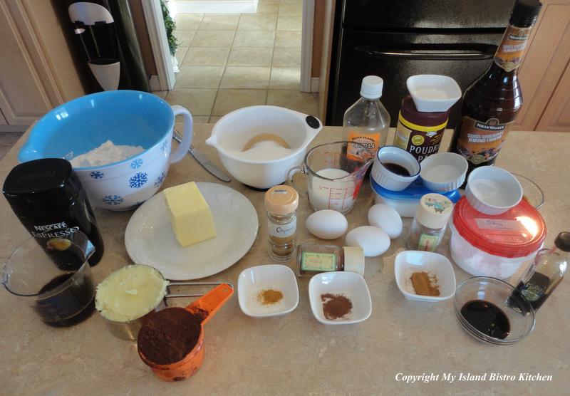 Ingredients for Chocolate Potato Cake