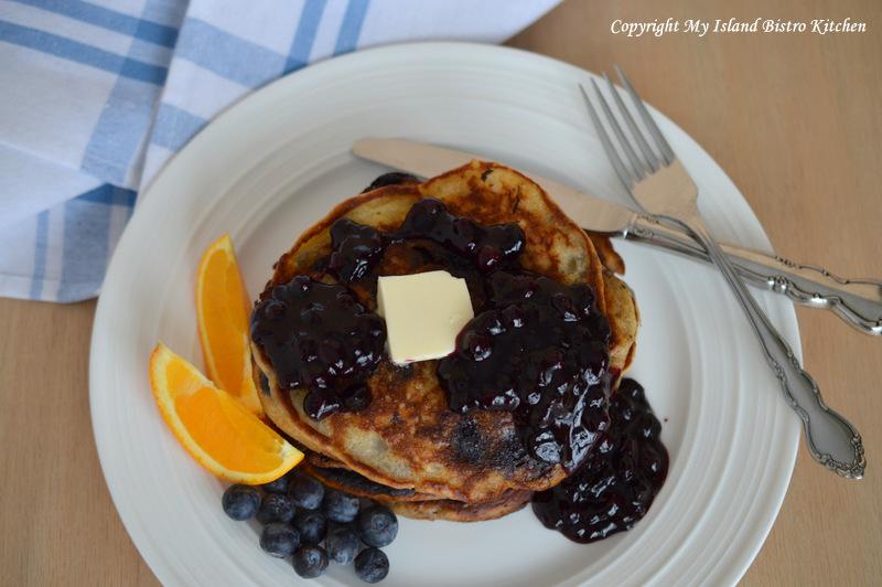 Blueberry Buttermilk Pancakes | My Island Bistro Kitchen