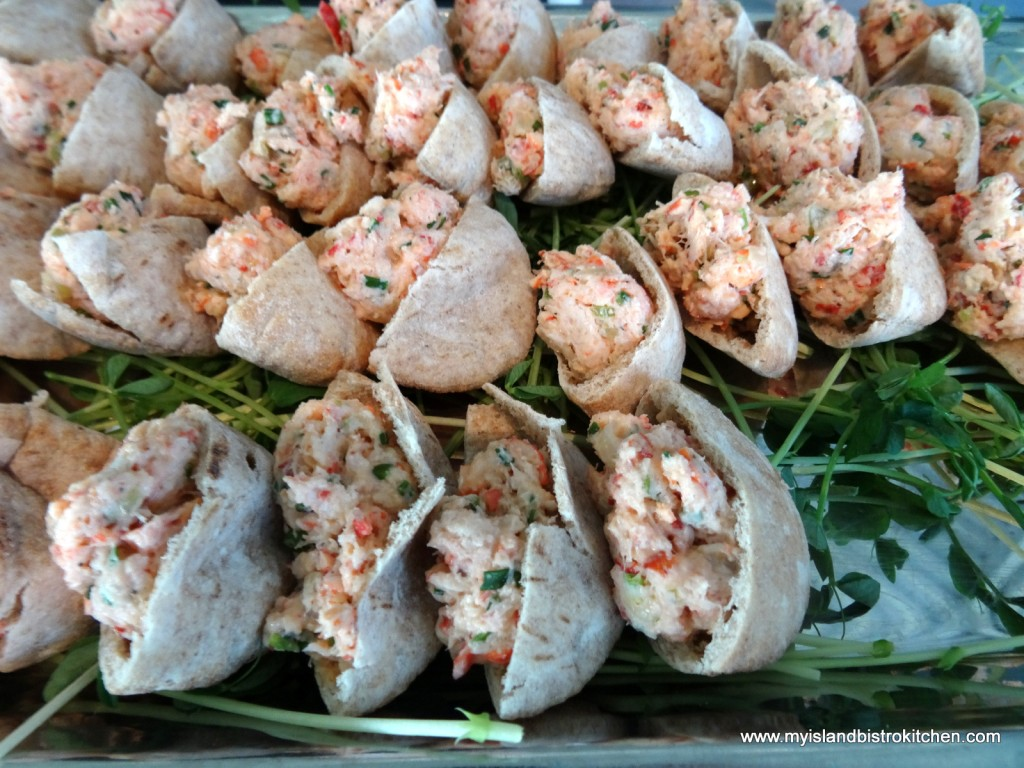 Lobster Salad in Mini Pitas