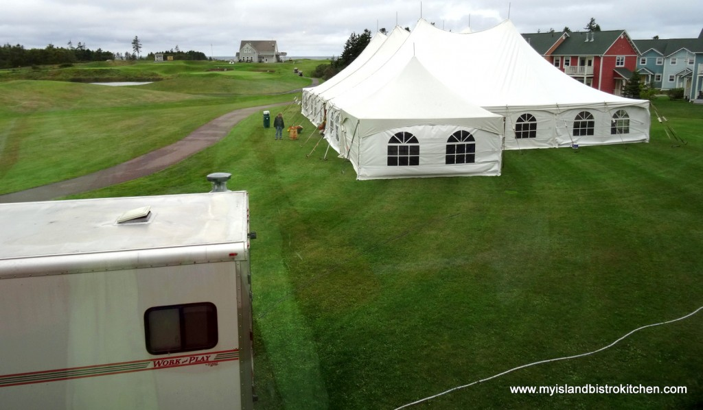 "Event Tent at Rodd Crowbush Resort for ""Lamb Luau"""