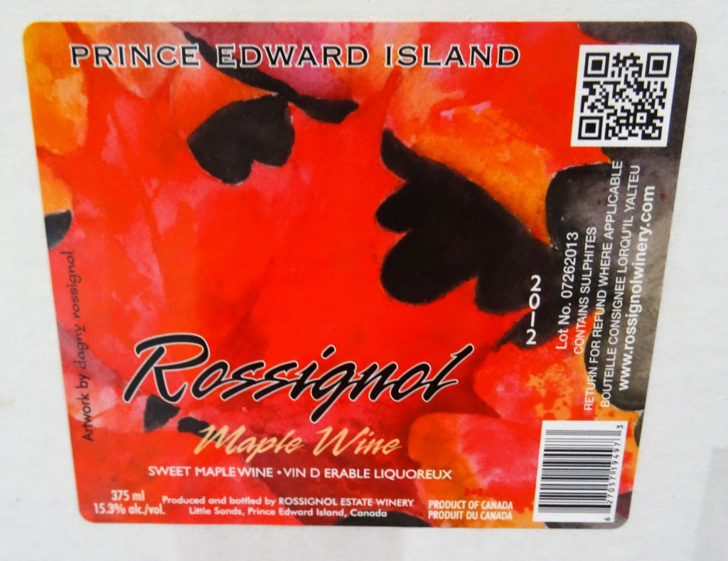 Wine Bottle Label Designed by Dagny Rossignol