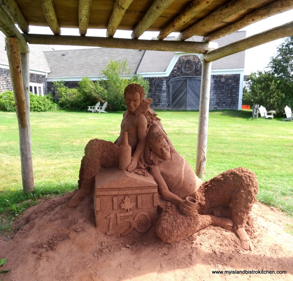 Sand Sculpture by Abe Waterman - at the Rossignol Winery, Little Sands, PEI