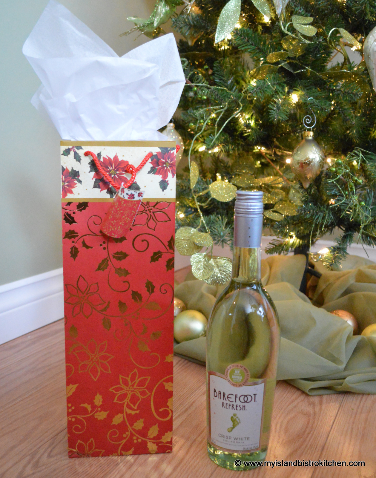 Decorating wine bottles for gift giving my island bistro for How to decorate a wine bottle for a gift
