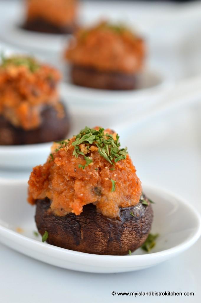 Sausage-stuffed Cremini Mushroom Caps