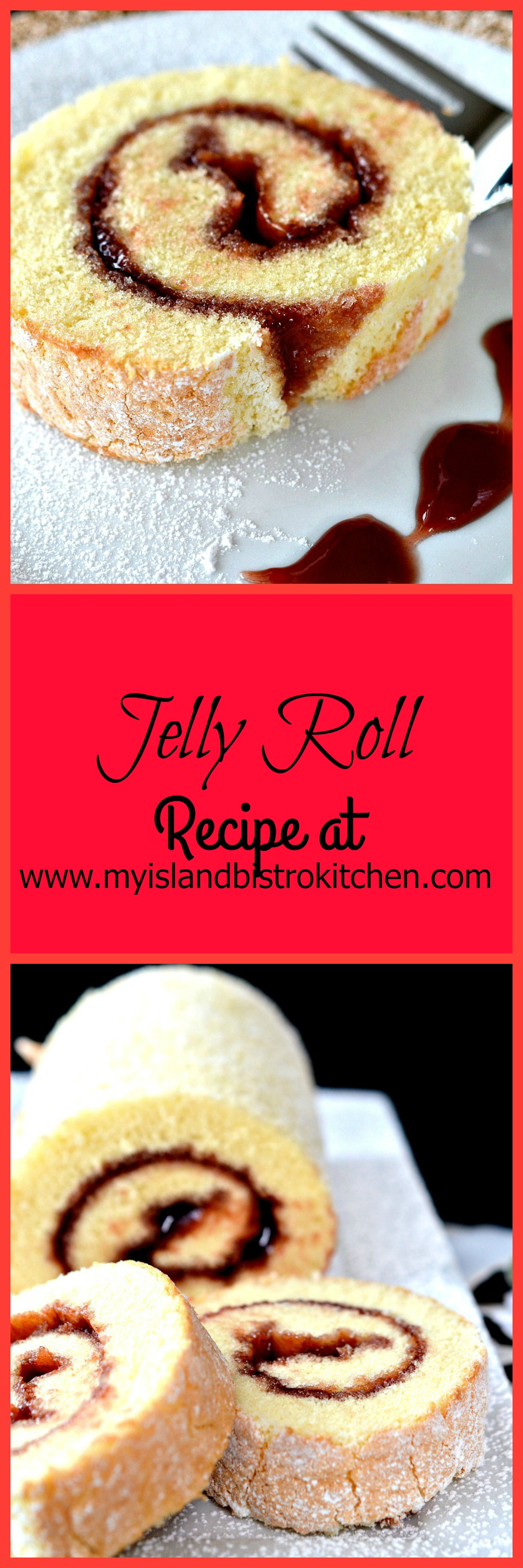 Jelly Roll - Yummy sponge cake with a red jelly/jam filling