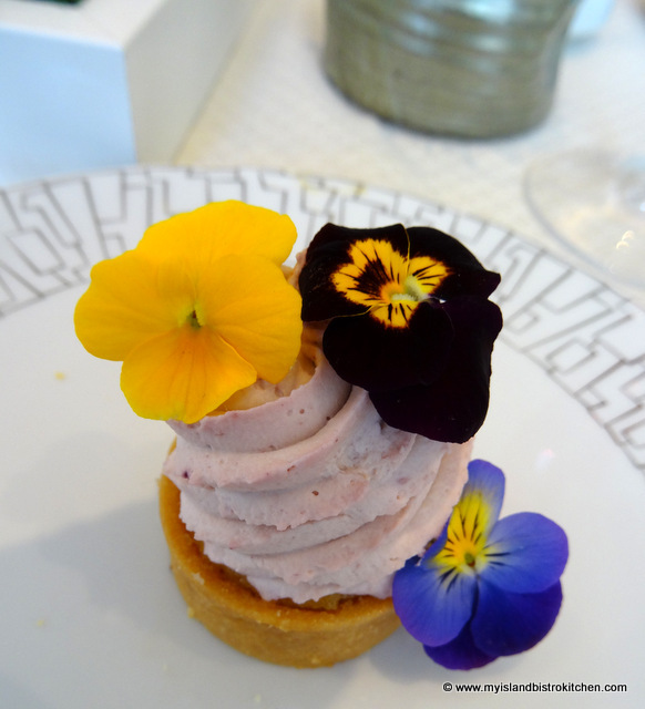Violet Cream and Grapefruit Tart