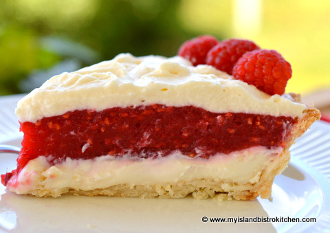 Raspberry Cream Cheese Pie - My Island Bistro Kitchen