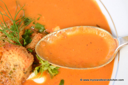 Roasted Cream of Tomato Soup