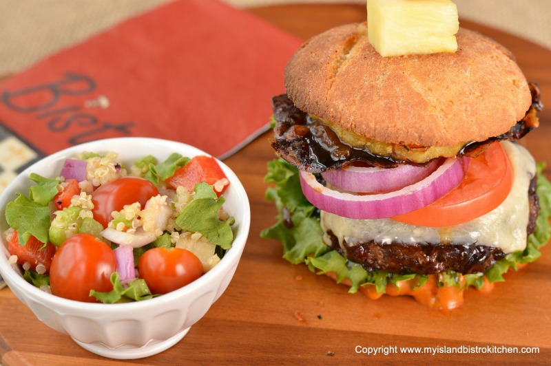 """The Bistro Burger"" with a Side Salad"