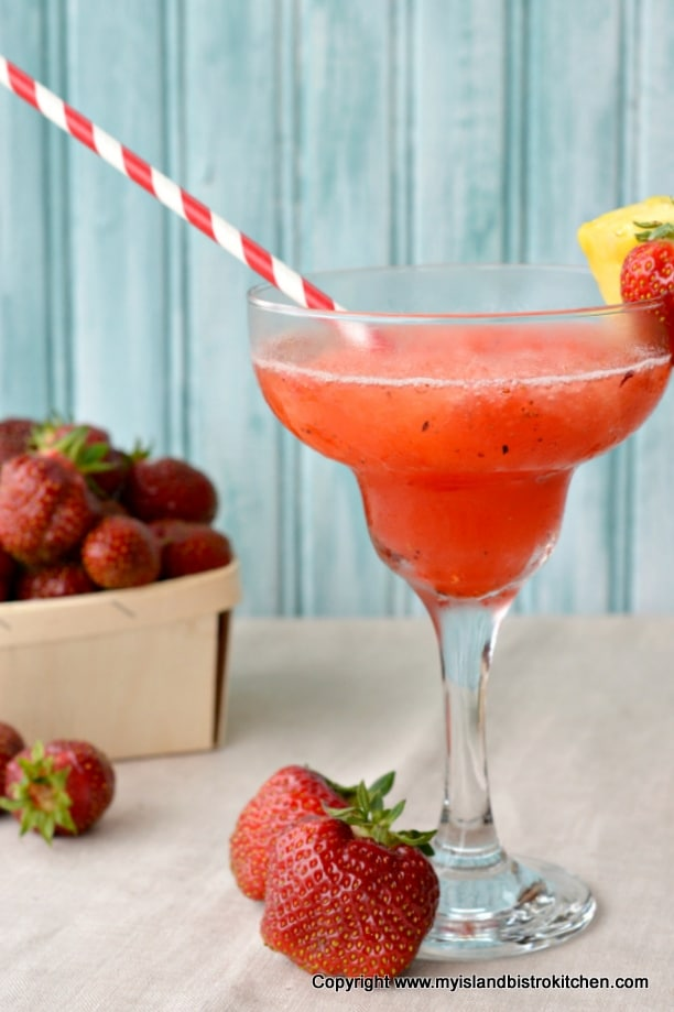 Strawberry and Rhubarb Slush