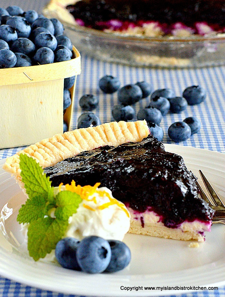 Blueberry and Grand Marnier Pie