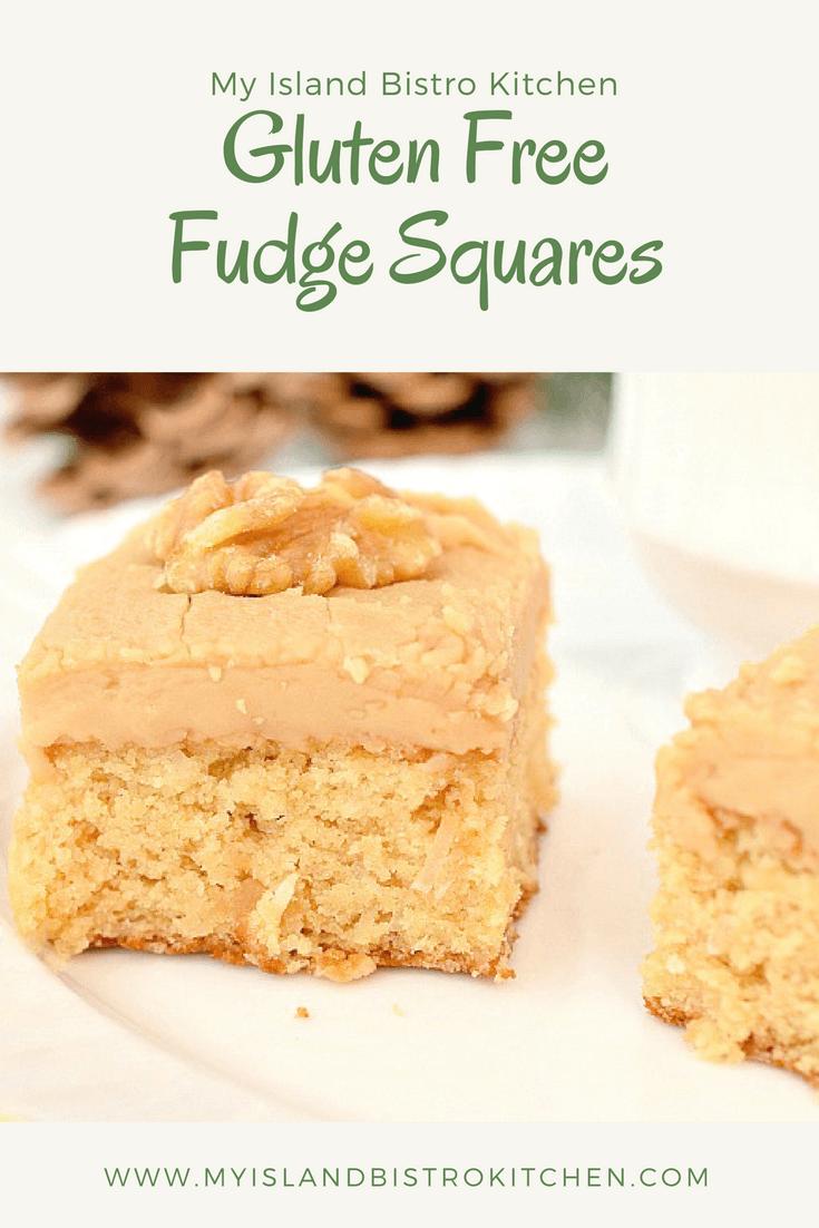 Gluten Free Fudge Squares