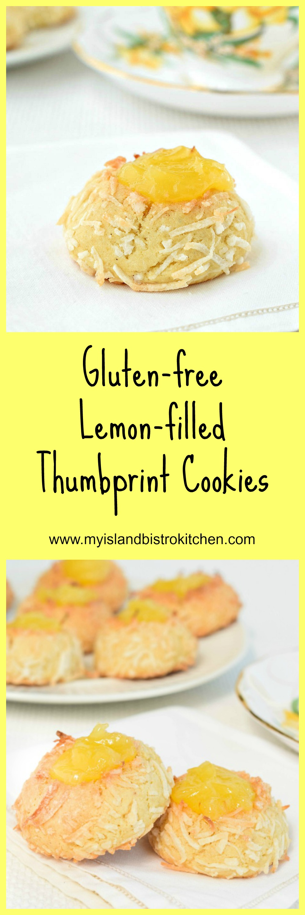 Gluten-free Lemon-filled Thumbprint Cookies