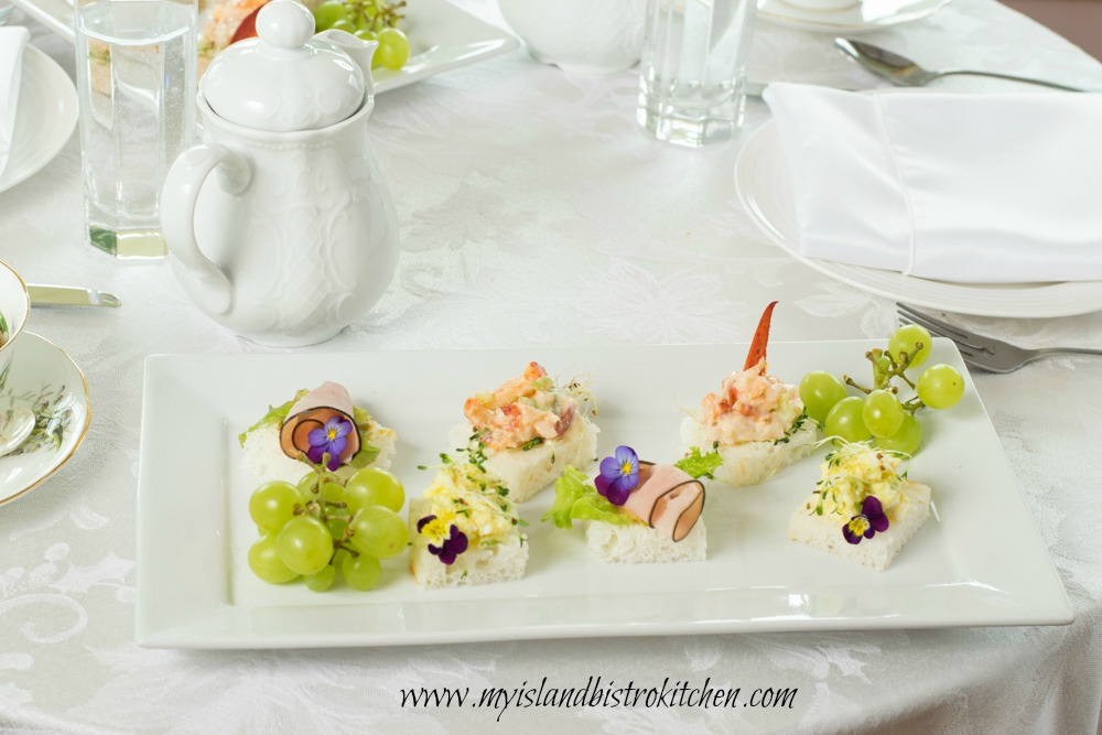 Gluten-free Open-faced Tea Sandwiches