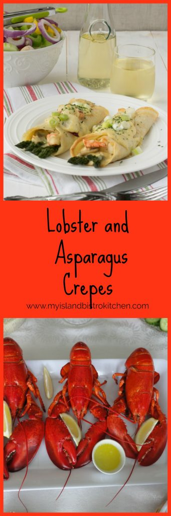 Lobster and Asparagus Crepes - My Island Bistro Kitchen