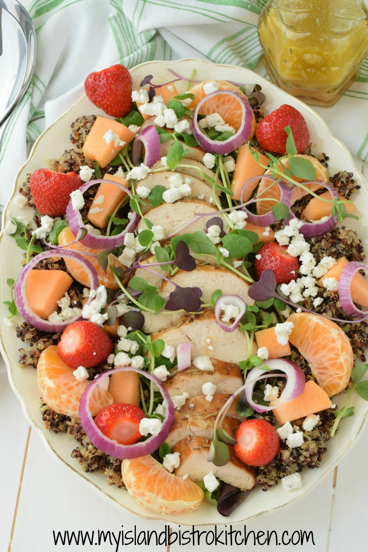 Chicken and Quinoa Salad with Orange Star Anise Vinagrette