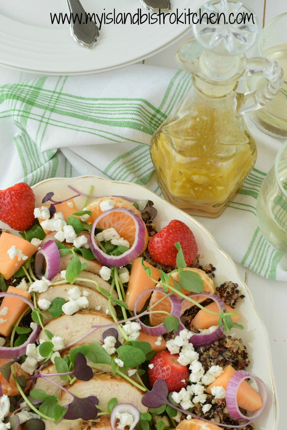 Chicken and Quinoa Salad with Star Anise and Orange Vinaigrette