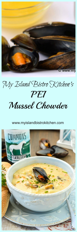 My Island Bistro Kitchen's PEI Mussel Chowder