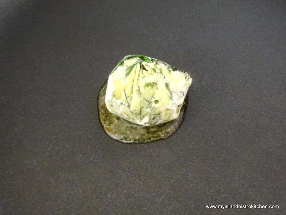 Melting Frozen Herb Cube