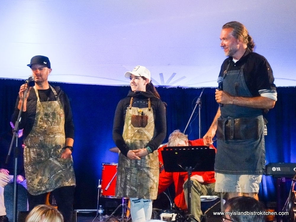 "Chef John Jackson (left), Chef Connie DeSousa (center), and Chef MIchael Smith (right) at ""Taste of North Rustico"" 2017"