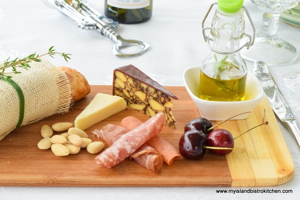 Charcuterie, Cheese, and Fruit Starter Board