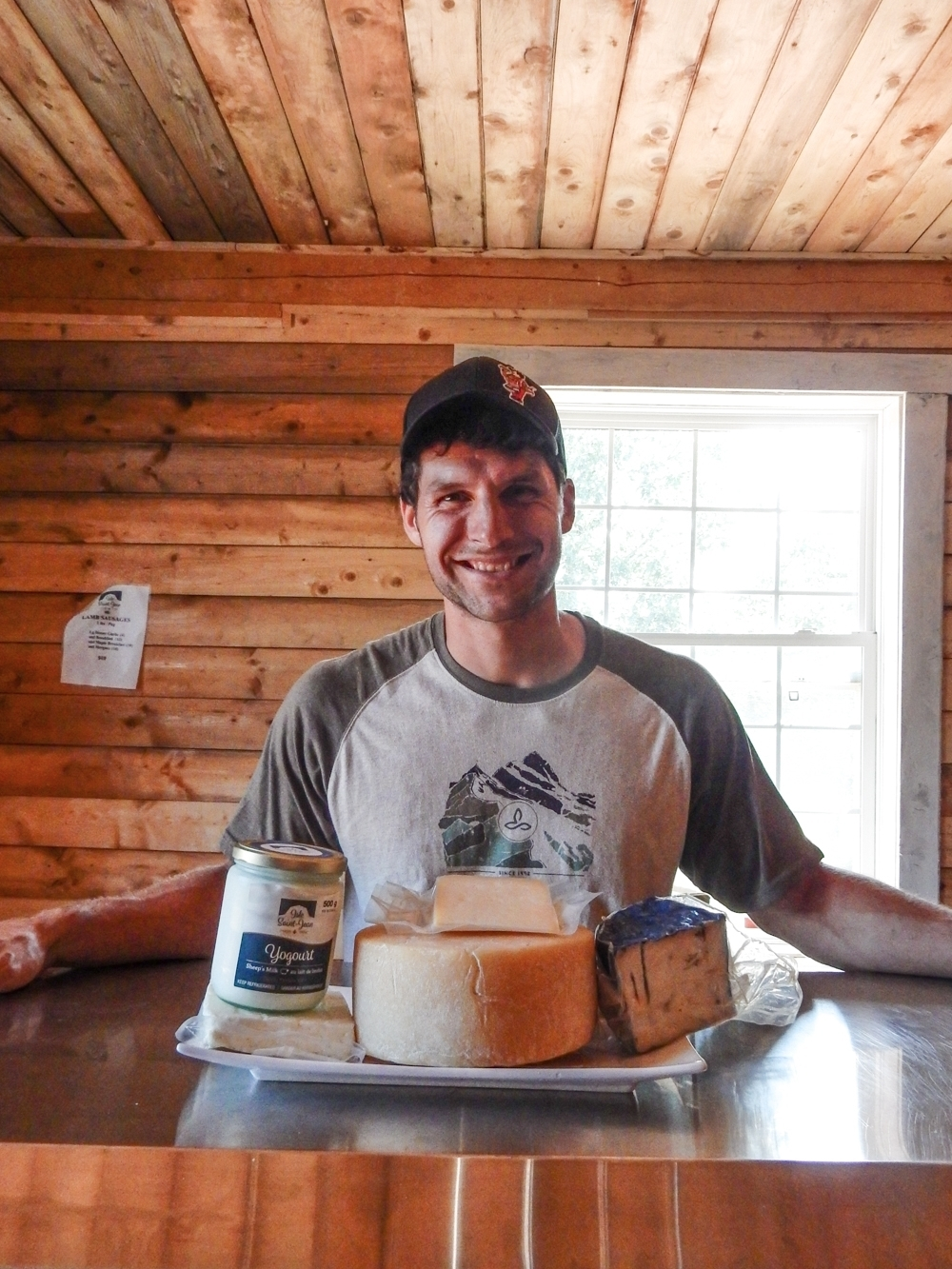 Gabriel Mercier in his Retail Shop at Ferme Isle Saint-Jean, Rustico, PEI