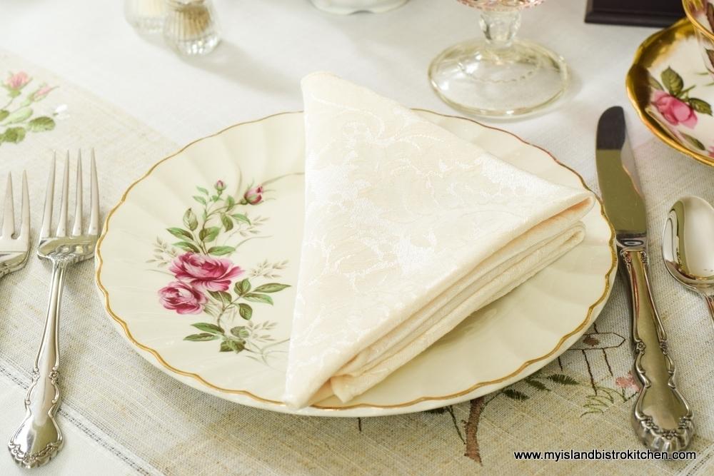 Simple Teatime Napkin Fold