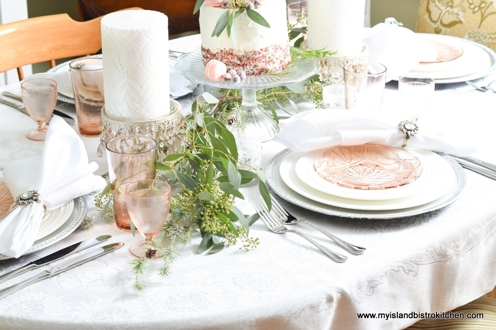 Pink Blush Tablesetting