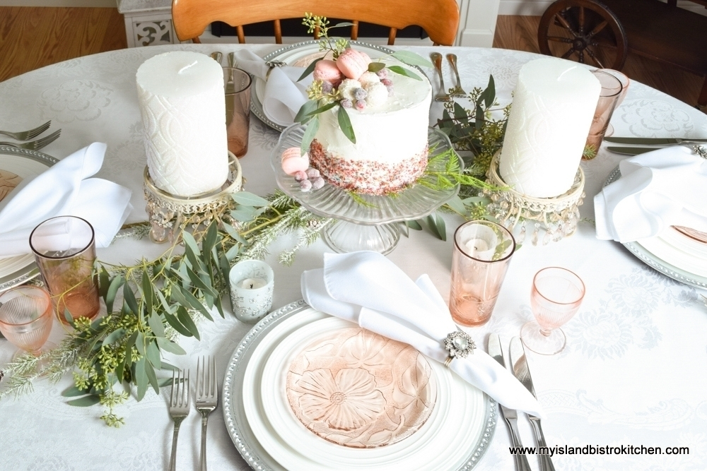 Pink Blush Holiday Tablesetting