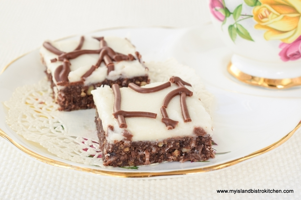 how to make chocolate coconut squares