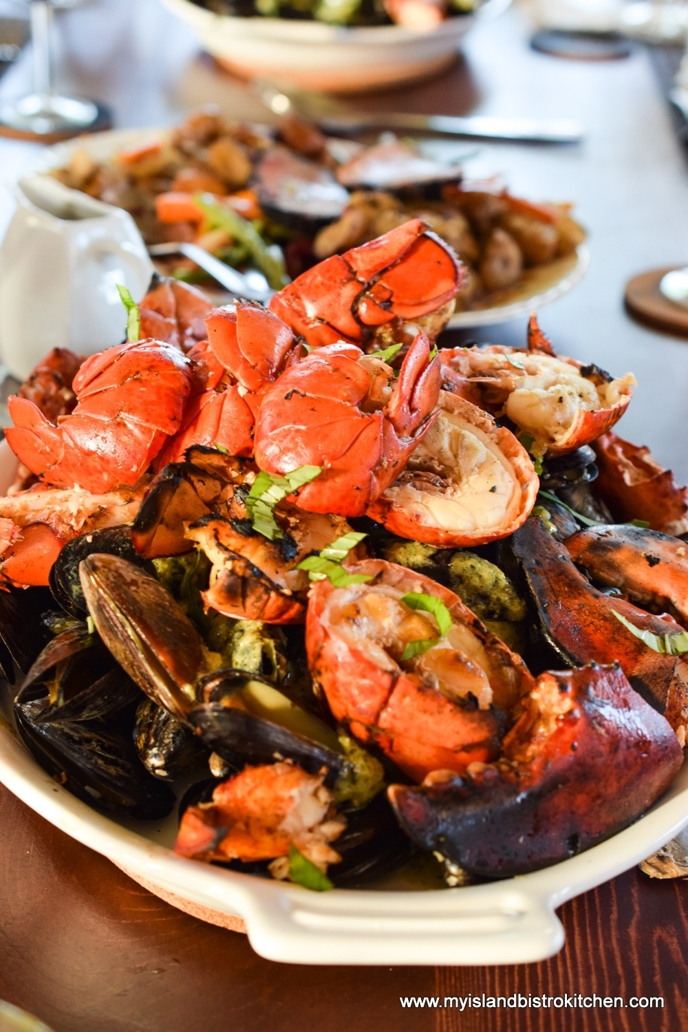 Lobsters and Mussels at The Table Culinary Studio in New London, PEI