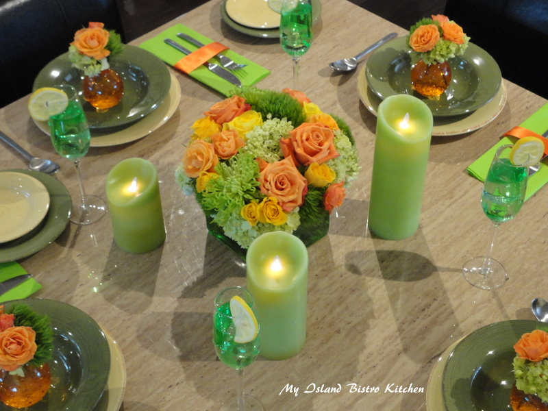 Summer Table Setting by Michael Jackson of Prestige Floral Studio, Summerside, PEI