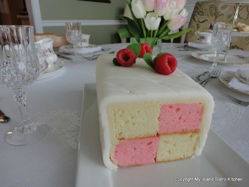 Battenburg Cake - Mother's Day Tea