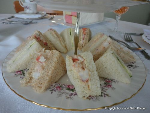 Selection of Tea Sandwiches at Mother's Day Tea