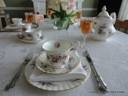 Mother's Day Tea Table Setting